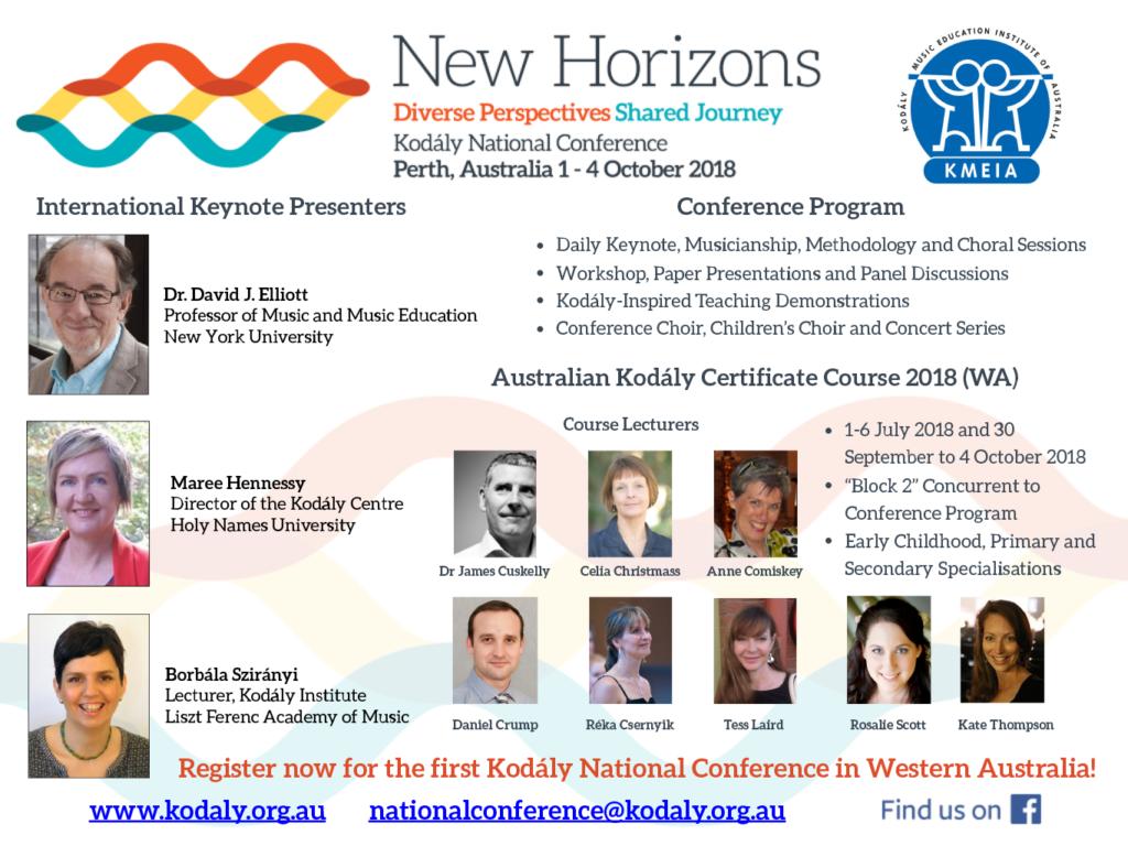 WA: Australian Kodály Certificate Course 2018 – Kodály Australia